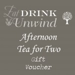 Heaven Scent Coffee Shop Afternoon Tea gift voucher